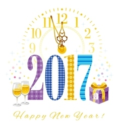 New year 2017 poster template design vector