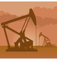 Oil producing pumps vector
