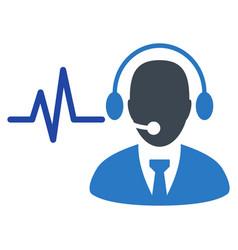 operator sound signal flat icon vector image