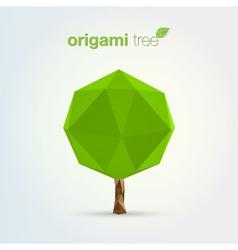Origami tree vector