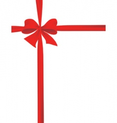 packaging with a red ribbon vector image vector image
