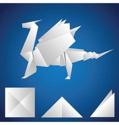 paper dragon vector image