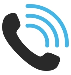 Phone call flat pictogram vector
