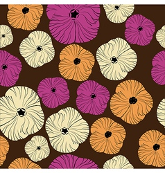 Seamless floral pattern hand-drawing vector
