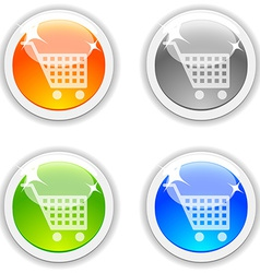 Shopping buttons vector