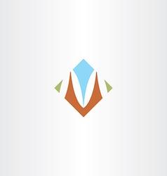 sign m letter m icon design vector image