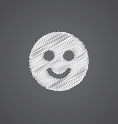 Smile sketch logo doodle icon vector