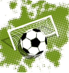 Soccer ball on a green background vector image vector image