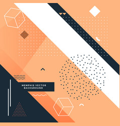 stylish memphis background with abstract shapes vector image vector image