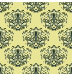Vintage paisley seamless floral pattern vector