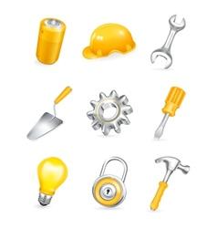 Repair icon set vector image