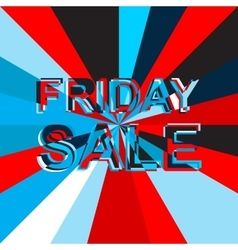Big ice sale poster with FRIDAY SALE text vector image