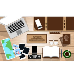 flat object design set ready to travel on the vector image