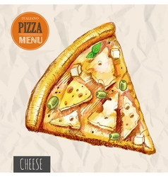 A slice of cheese pizza vector