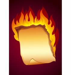 burning paper background vector image