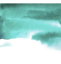 green blue spot watercolor vector image
