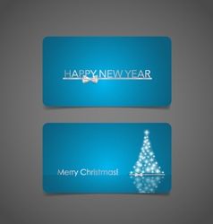 Holiday gift coupons with christmas tree vector