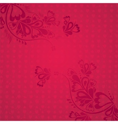 Red background with valentine hearts vector