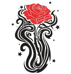Elegant rose tattoo vector