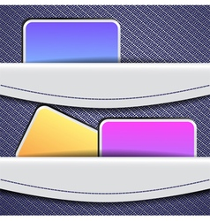 Sample banner design vector image