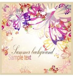Colorful vintage background vector image