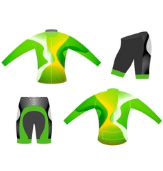 Cycling vest long sleeve vector