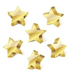 Golden metallic stars vector