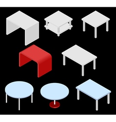 Tables isometric vector