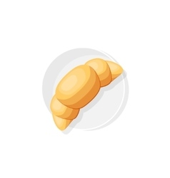 Croissant in a flat style food office breakfast vector
