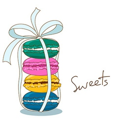 Background of french macaroons vector