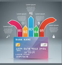 bank card - business infographic vector image
