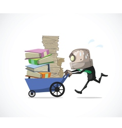 Businessman run vector