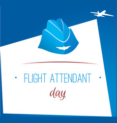 Card day flight attendant vector
