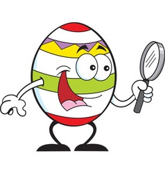 Cartoon Easter egg vector image vector image