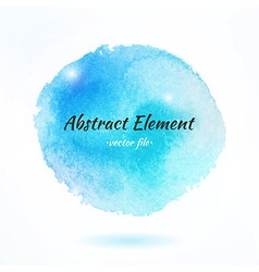 Colorful watercolor abstract element vector