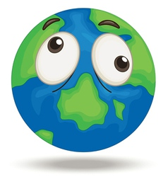 Confused Earth vector image vector image