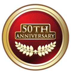 Fiftieth anniversary award vector