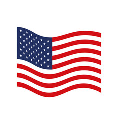 flag united states of america wave flat icon vector image