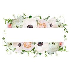 floral design square card design soft light pink vector image vector image