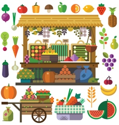 Food market vector image