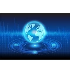globe machine vector image