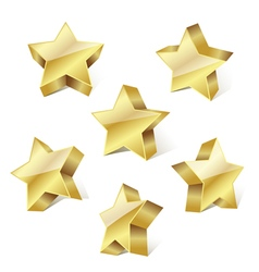 golden metallic stars vector image