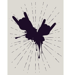 Grunge hand with gestures4 vector