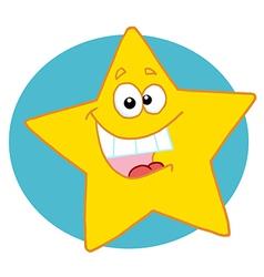 Happy yellow star vector