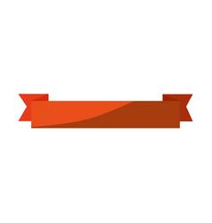 isolated ribbon cartoon vector image