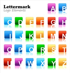 lettermark logo elements vector image