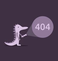 lizard torch 404 error vector image