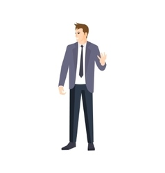 Man in grey jacket and black tie part of the vector