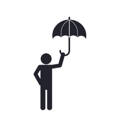Pictogram umbrella human help support icon vector