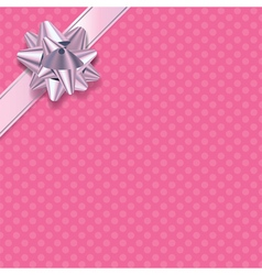 Pink Polka Dot Present Background vector image vector image